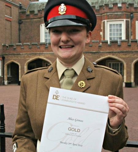 Cadet Sgt Alice Groves