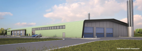 Artists impression of new energy recycling centre