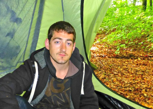 Homeless man living in Bishopstoke woods