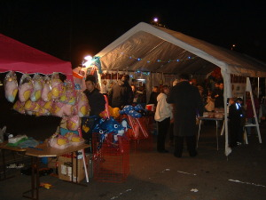 Stall holders in the Marquee