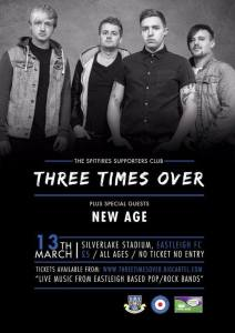 Three Times Over will perform in Eastleigh in March