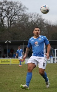 Jai Reason netted a Eastleigh's first on Monday (photo by Tony Smith)