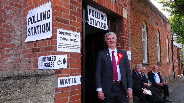 Mark Latham at Polling Station