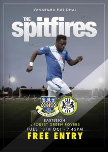 Eastleigh Vs Forest Green Rovers, FREE admission game next month