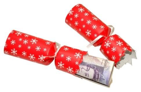 Christmas cracker money