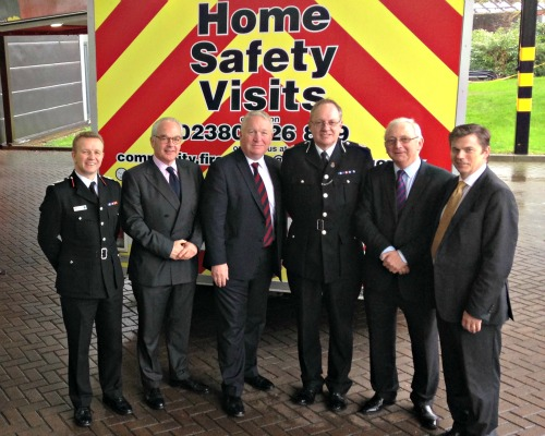 Minister visit to Hampshire's Fire and Police HQ