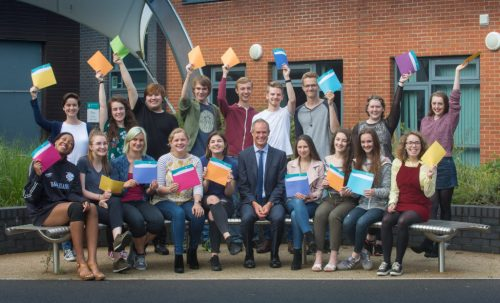 Group shot of students with Jonathan Prest