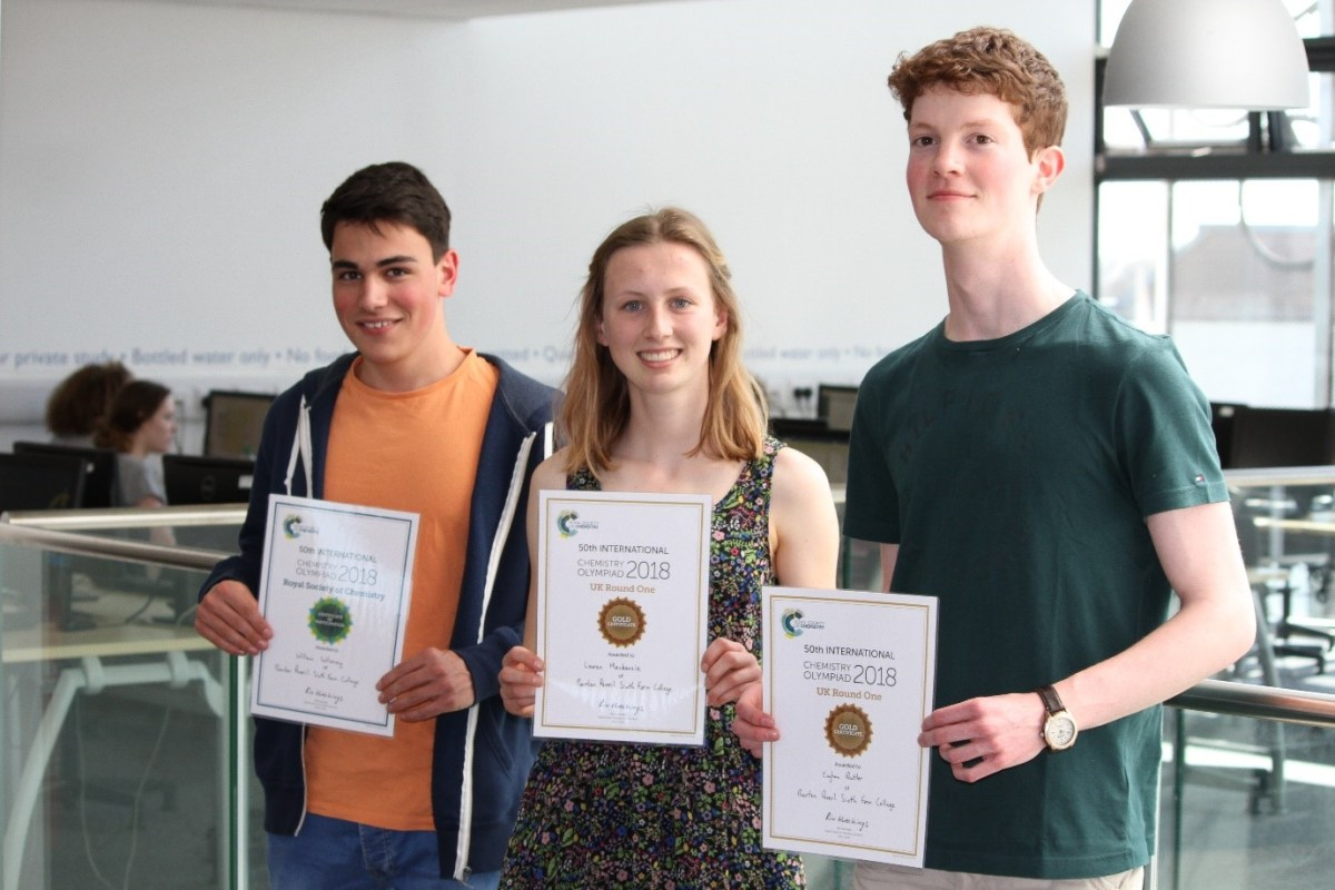 Barton students recognised by 2018 Cambridge Chemistry Olympiad
