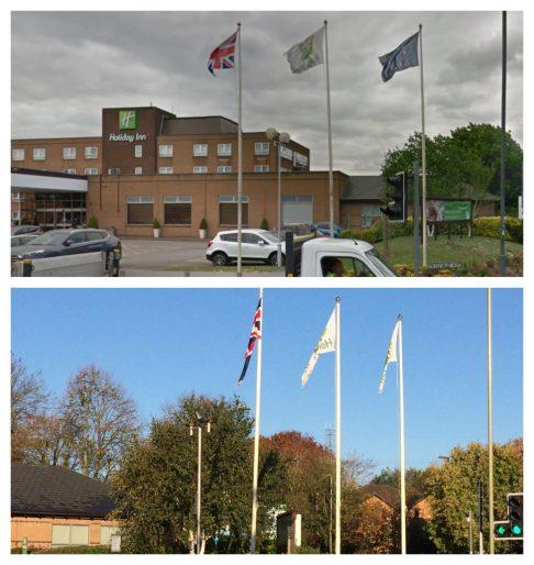Flags at HI EAstleigh