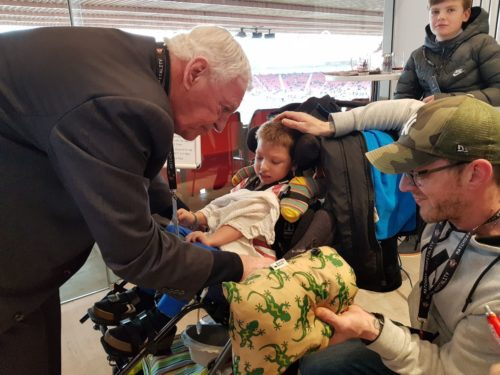McMenemy surprises hospice families at Saints match