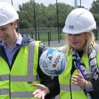 Sports Minister and FA Chief visit new football hub