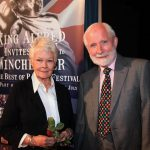 Dame Judi Dench with John Miller at Theatre Royal Winchester Credit Moira Blackwell scaled