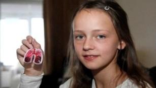 Megan Ward shows off her key ring invention Photo: Paula Ward