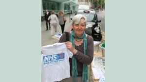 March To Save The NHS Demo organiser Candy Udwin