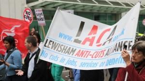 Lewisham anti-cuts banner