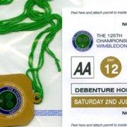 Fake Wimbledon pass and parking permit