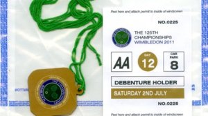 Fake Wimbledon pass and parking permit
