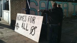 Squatters on Mare Street resist eviction