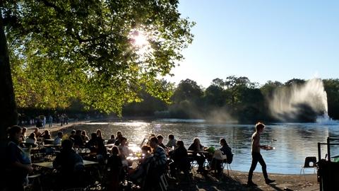 The Pavilion Cafe at Victoria Park pic: Gordon Joly