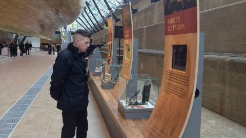 The Exhibition Below the Hull of the Ship