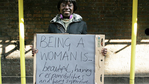 Being a woman is: Beautiful, having responsibilities and being supportive. Pic: Emma Rumney