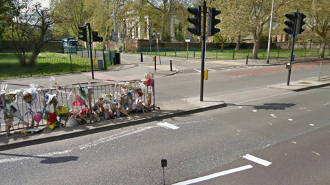 The pedestrian crossing between Deptford Church Street and Bronze Street where the accident occurred. Pic: Google