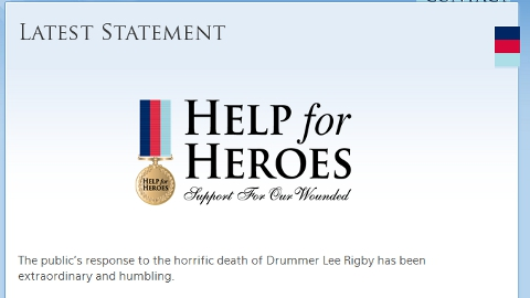 Help For Heroes- overwhelmed by public's response.