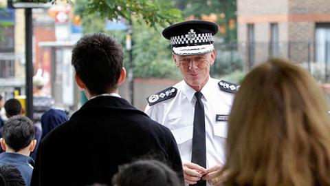 Metropolitan Police Commissioner Sir Bernard Hogan-Howe. Pic: Met Police