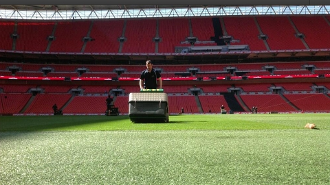 Wembley pitch for Crystal Palace v Watford. Pic: npower Football League