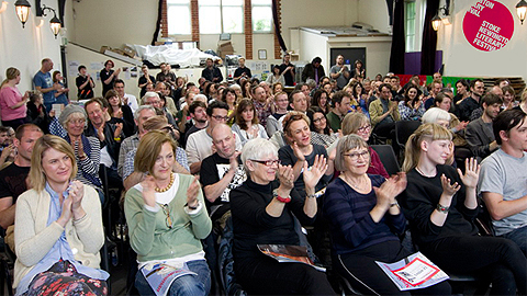 Attendees at a previous edition of the Stoke Newington Literary Festival