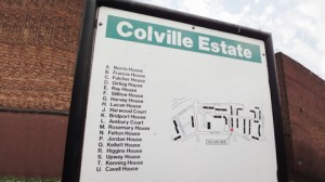 Colville Estate to be replaced by the new building. Pic: ELL