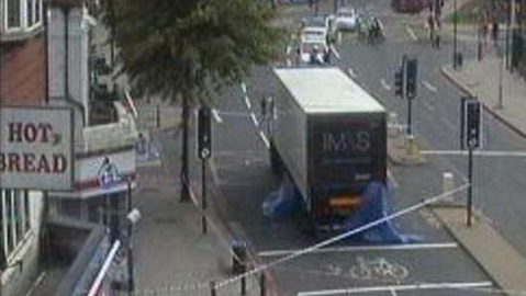 Pic: CCTV image of the scene captured through TrafficEye