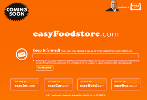 COMING SOON: easyFoodstore.com invites visitors to the site to sign up for updates