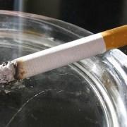 lit cigarette with smoke