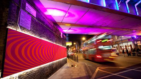 Hackney Bridge installation on Mare Street. Pic: Hackney Council