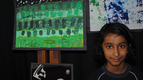 A student of the Rosetta Arts Centre and their work at a previous exhibiton. Pic: Rosetta Arts Centre