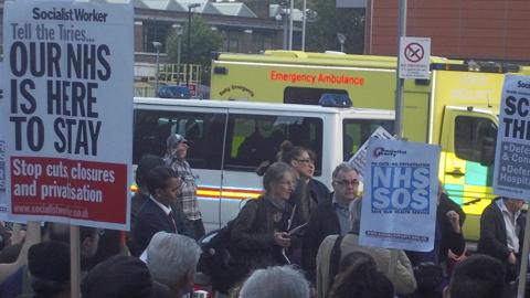Protest at Royal London Hospital