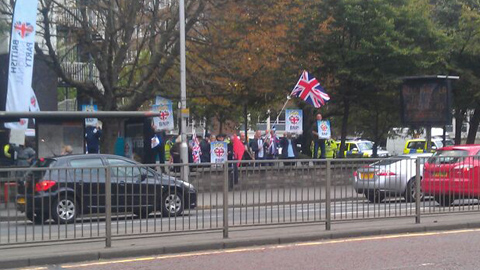 BNP protesters. Pic: Courtney Greatrex