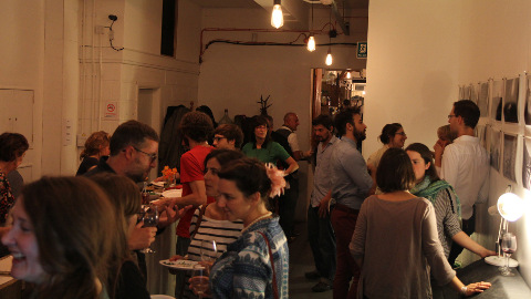 Attendees socialising at book lauch. Pic: