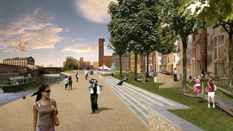 An image of future Vittoria Wharf. Pic: CMA Planning