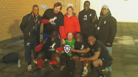 The Neighbourhood Community Safety Service win the cup. Pic: Alex Kalinauckas