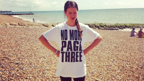 No More Page Three campaigners don Tees for the cause. Pic: No More Page Three