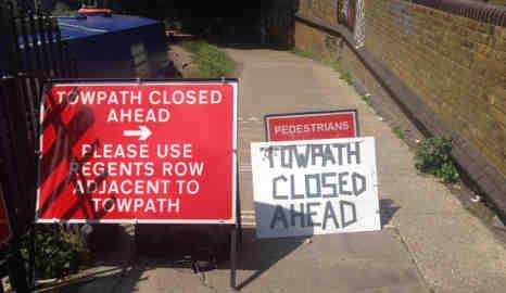 Towpath closed. Photo: Deana Georgas