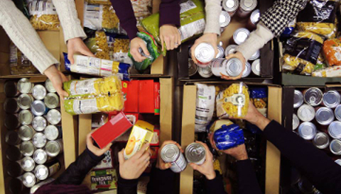 Foodbank donations Pic: Trussel Trust