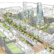 Artists impression northwest across Whitechapel Road Pic: Tower Hamlets Council