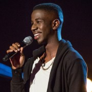 Jermain Jackman on The Voice. Pic: BBC