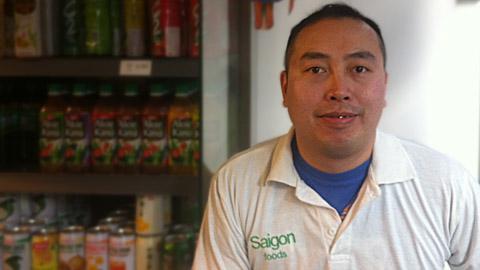Vu Dang, shop owner. Pic: Bunmi Abidogun