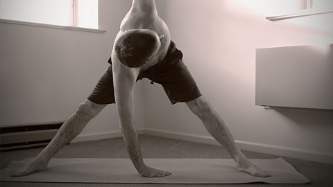 Variation of the triangle pose. Pic:Nicholas A. Tonelli