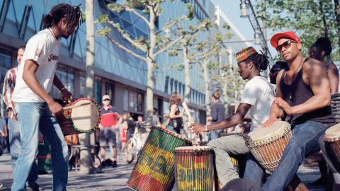 African drumming. Pic: Christian Senger