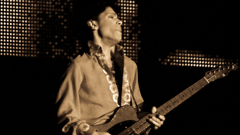 Prince performing in 2008. Pic: Redfishingboat